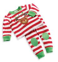 1-St Free shipping 2014 new kids Christmas sets Male child stripe christmas set autumn long-sleeve lounge 5sets/lot
