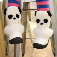 2014 winter boot for kids warm snow boot cute panda children shoes high quality girl boots