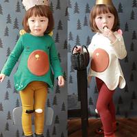 2014 autumn and winter cartoon girls clothing child long-sleeve T-shirt legging set tz-1125