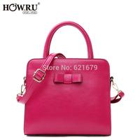 Free shipping 2014 casual bow decoration one shoulder cross-body handbag