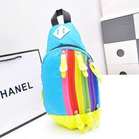 Rainbow Backpack Unisex Chest Pack Small Messenger Sports Waist Pack Canvas Messenger Handbag XBG065