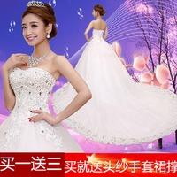 white wedding dresses free shipping good quality  women trailing wedding  fashion wedding dresses