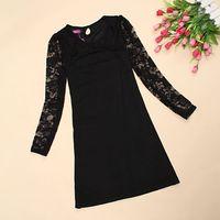 lace vintage dress long sleeve plus size women clothing  free shipping