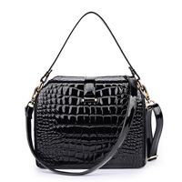2014 New arrival lady handbag,Fashion crocodile pattern leather women bags,Stone pattern bright surface messenger bag,Small bags