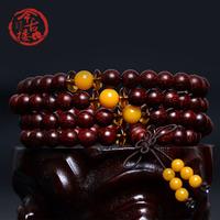 India lobular red sandalwood beads bracelets 108 arbitraging multi-circle rosary