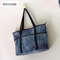 W S Tang 2014 new Denim canvas women's handbag fashion vintage big small fresh casual shoulder bag