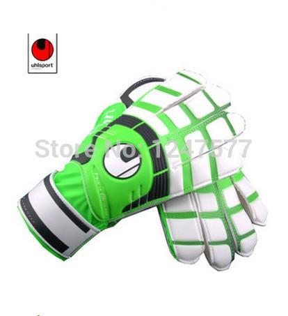 Uhlsport lungmoon gloves professional football goalkeeper gloves size 8,9,10 Free shipping(China (Mainland))