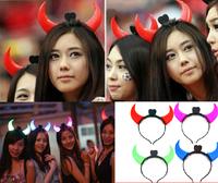 Light-emitting horn lamp light-emitting horn headband light-up toy flash hair accessory horn headband cosmetic