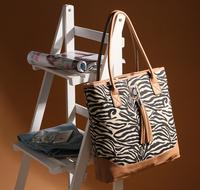 Fashion fashion zebra print tassel shoulder bag handbag women's handbag