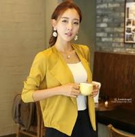 2014 autumn all-match cardigan small cape chiffon female thin long-sleeve short jacket outerwear