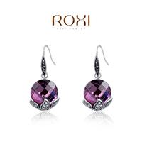 accessories Roxi hot-selling fashion jewelry purple drop earring anti-allergic ear fashion