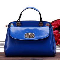 Women's handbag oil waxing leather handbag messenger bag motorcycle summer fashion bag yeh