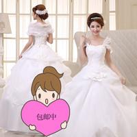 organza wedding dresses  good quality  but cheap  wedding dress white  looks thinner new 2014