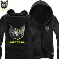 2014 New World Tour Maotou ODD FUTURE OFWGKTA Golf Wang thicker fleece zip cardigan sweater cotton hoodies man hoody