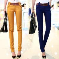 2014 spring elastic harem pants slim skinny pants pencil pants casual pants ol