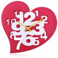 Personalized cartoon silent fashion brief fashion big wall clock heart clocks