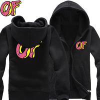 2014 New Odd Future Wolf Gang OFWGKTA Golf Wang HIPHOP brushed cotton zipper sweater hoodie men hoodies