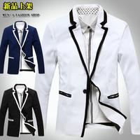 Free shipping new fashion autumn male casual coat classic student school uniform terno masculino blazer men suit