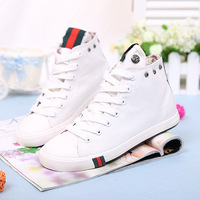 The most popular high-top canvas shoes women flat shoes casual sports running shoes. Free Shipping