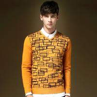 2014 Hot Explosion Models Men's Sweater V Neck Cotton Men's Sweater Long-sleeved shirt Two Colors M-L-XL-XXL Sweater Men