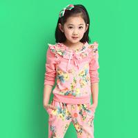 Children's clothing female child autumn 2014 child sports set child autumn