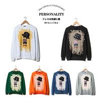 2014 autumn cartoon men sweatshirt  long-sleeve Hoodies pullover sweatshirts