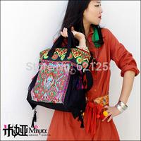 Free Shipping! Embroidered messenger bag handbag canvas bag national bag women's handbag