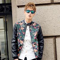 2014 Fashion men's flower print jacket