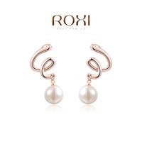 accessories Roxi fashion jewelry earring anti-allergic drop rose gold earring stud earring earrings female day gift