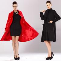 fashion thickening loose woolen wool overcoat 2014 autumn and winter medium-long woolen outerwear female