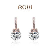 accessories Roxi jewelry earring austria crystal rose gold bow zircon drop earring