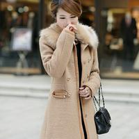 2014 women's woolen outerwear cashmere overcoat