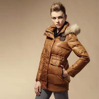 2014 medium-long down coat female slim down coat female