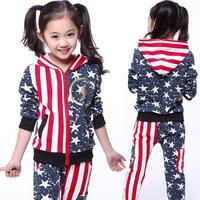 2014 fashion mix match male female child set medium-large male child female child fashion sports casual set