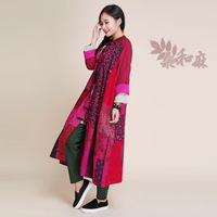 [ LYNETTE'S CHINOISERIE - Sang ] National trend women's chinese style tang suit cotton patchwork 100% plus size outerwear trench