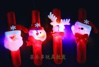 12pcs/lot, Luminous pat circle snowily ring pops christmas hand ring watch wrist length decoration christmas gift