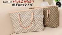 New 2014 Fashion Tote bag women Casual Canvas Shoulder Bag Femme Travel Big bag Beige Gray Women Messenger bag WD3 Free shipping