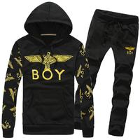 2014 New Autumn Sportswear Fashion Men's Casual Sports Suit Tracksuit Man Coat Jacket + Pants Male Sweatshirts Sets Plus size