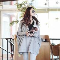 2014 autumn new  women's hoodies loose plus size thin long-sleeve sweatshirt outerwear female casual mm cardigan top