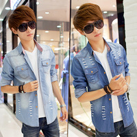 FREE SHOPPING 2014men coat plus size denim jacket men's clothing man jacket winter jacket men L-3XL