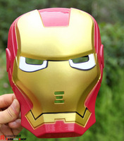 3pcs/lot New The Hulk Captain America Batman Spiderman Ironman LED Glowing Party Mask Birthday Halloween Boy Gift  W2301