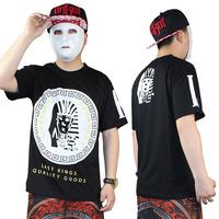 free shipping  2014 last kings lk hiphop hip-hop hiphop b male boy short-sleeve t-shirt tee   drop  shipping
