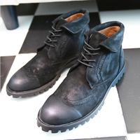 Men's brock leather boots