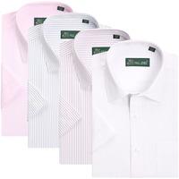 2014 Summer Hot Selling Men Shirt 100% Cotton Shirt Turn-Down Collar Multicolor Stripes Printing Men Plus Size Blouse Shirt