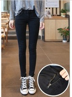 New arrival 2014 slinky slim skinny pants pencil pants jeans trousers black