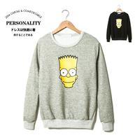 Ga17 2014 autumn cartoon print the trend of male slim o-neck pullover sweatshirt p55
