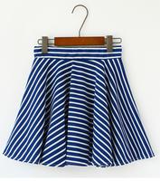 High Quality !Skirts Female 2014 Sexy Women Stripe High Waist Skirts Black White Splicing Texture Mini Bubble Skirt