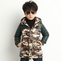 Male child autumn and winter 2014 cotton-padded jacket child trend child wadded jacket outerwear Camouflage top
