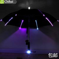 Free shipping batman leds luminous umbrella Luminous sunscreen vinyl super uv protection umbrella umbrella