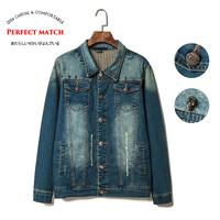 2014 male slim denim jacket men's clothing denim coat gw08-115